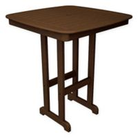 POLYWOOD® Nautical 37-Inch Bar Table in Teak