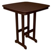 POLYWOOD® Nautical 37-Inch Bar Table in Mahogany