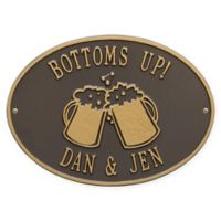 White Hall Products Beer Mugs Indoor/Outdoor Wall Plaque in Bronze/Gold