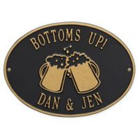 White Hall Products Beer Mugs Indoor/Outdoor Wall Plaque in Black/Gold