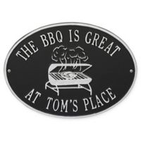 Whitehall Products Grill Indoor/Outdoor Wall Plaque in Black/Silver