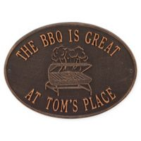 Whitehall Products Grill Indoor/Outdoor Wall Plaque in Antique Copper
