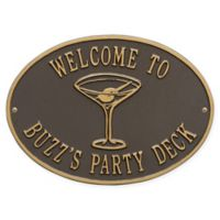 Whitehall Products Martini Indoor/Outdoor Wall Plaque in Bronze/Gold