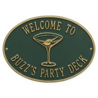 Whitehall Products Martini Indoor/Outdoor Wall Plaque in Green/Gold