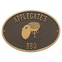 Whitehall Products Charcoal Grill Indoor/Outdoor Wall Plaque in Bronze/Gold