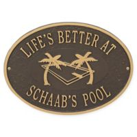Whitehall Products Swimming Pool Party Indoor/Outdoor Wall Plaque in Bronze/Gold