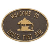 Whitehall Products Tiki Hut Indoor/Outdoor Wall Plaque in Bronze/Gold
