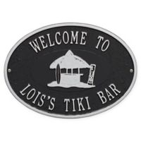 Whitehall Products Tiki Hut Indoor/Outdoor Wall Plaque in Black/Silver