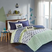 Urban Habitat Kids Finn Full/Queen Duvet Cover Set in Green/Navy