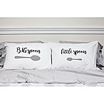 "Sleeposophy ""Big Spoon Little Spoon"" Standard Pillowcases in White (Set of 2)"