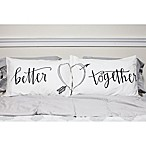 "Sleeposophy ""Better Together"" Standard Pillowcases in White (Set of 2)"