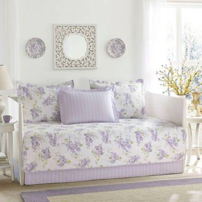 laura ashley keighley daybed set in purple - Liliac Bedding