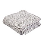 Little Unicorn Striped Cotton Muslin Quilt in Grey