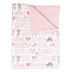 Thro Cory Safari Printed Fleece Baby Throw in Pink