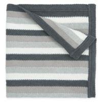Elegant Baby® Cotton Stripe Blanket in Grey