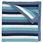 Elegant Baby® Cotton Stripe Blanket in Blue