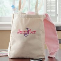All About Me Personalized Embroidered Petite Tote Bag