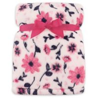 Hudson Baby® Florals Super Plush Blanket in Pink