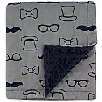 Hudson Baby® Gentleman Mink Blanket with Dotted Backing in Grey