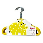 3 Sprouts 10-Pack Rhino Flocked Children's Hangers in Yellow