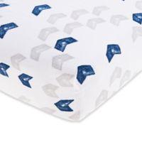 aden® by aden + anais® Denim Wash Cotton Muslin Fitted Crib Sheet in Blue