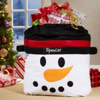 Snowman Face Toy Bag