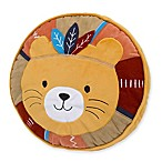 NoJo Aztec Forest Lion Round Throw Pillow