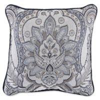Croscill® Seren Square Throw Pillow in Blue