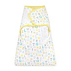 "Gerber® ""ABC"" Simply Secure Swaddle in Yellow"