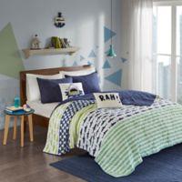 Urban Habitat Kids Finn Full/Queen Coverlet Set in Green/Navy