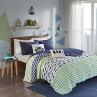 Urban Habitat Kids Finn Full/Queen Coverlet Set in Green/Navy