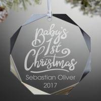 """Baby's 1st Christmas"" Premium Engraved Christmas Ornament"