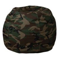 Flash Furniture Kids Small Bean Bag Chair in Camouflage