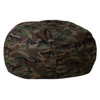 Flash Furniture Kids Large Bean Bag Chair In Camouflage