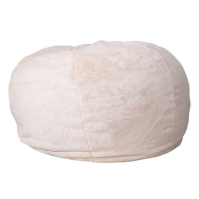 Flash Furniture Kids Large Bean Bag Chair In Furry White