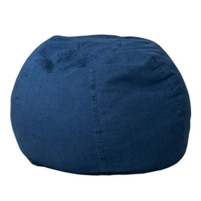 Flash Furniture Kids Small Bean Bag Chair in Denim  sc 1 st  Bed Bath u0026 Beyond & Buy Blue Bean Bag Chair from Bed Bath u0026 Beyond