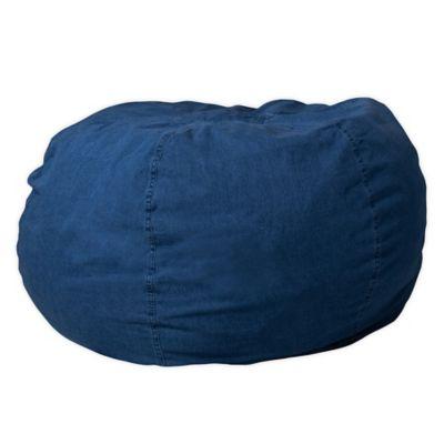 Flash Furniture Kids Large Bean Bag Chair In Denim