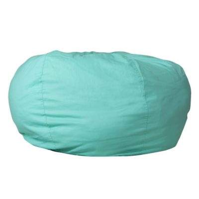 Seating U003e Flash Furniture Kids Large Bean Bag Chair In Mint Green