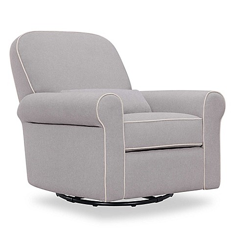 Davinci Ruby Recliner And Glider In Grey Cream Buybuy Baby
