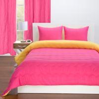 Crayola® Reversible Solid 2-Piece Twin Comforter Set in Hot Magenta/Laser Lemon Yellow