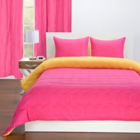 Crayola Reversible Solid 3 Piece Full Queen Comforter Set In Hot Magenta