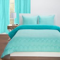 Crayola® Reversible Solid 3-Piece Full/Queen Comforter Set in Robin's Egg Blue/Turquoise Blue