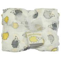 Best Bottom Blanket Hedgehog Swaddle Blanket in Yellow/Grey