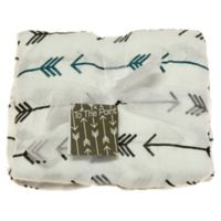 Best Bottom Blanket To The Point Swaddle Blanket in Blue/Grey