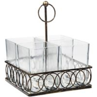 Home Essentials & Beyond 5-Piece Square Flatware Caddy in Antique Bronze