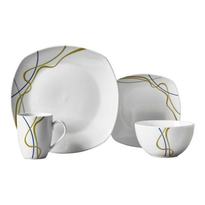 Tabletops Gallery® Hannah 16-Piece Soft Square Dinnerware Set  sc 1 st  Bed Bath u0026 Beyond & Buy Modern Square Dinnerware Sets from Bed Bath u0026 Beyond