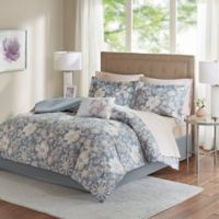 Madison Park Lily 9-Piece Full Comforter Set in Grey