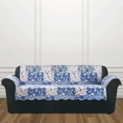 sure fit heirloom sofa cover in bluebell