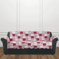 Sure Fit® Heirloom Sofa Cover in Red