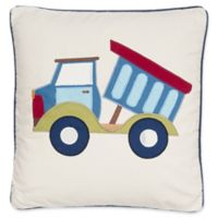 Levtex Home Carter Trucks Decorative Throw Pillow in White
